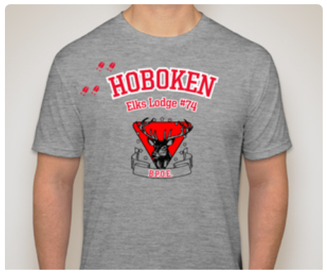Hoboken Elks Lodge 74 T-Shirt Grey